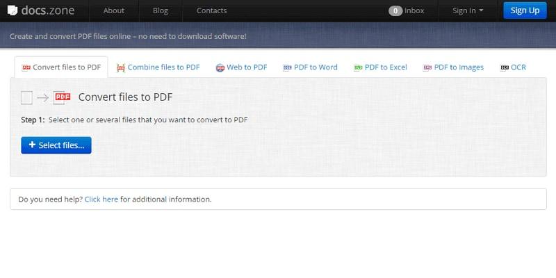doc a pdf conversor online