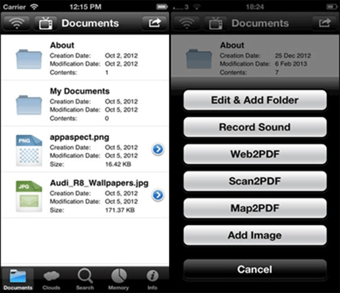 Preencher pdfs no iphone com PDF Expert