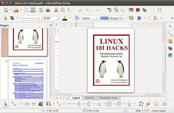 pdf edit linux