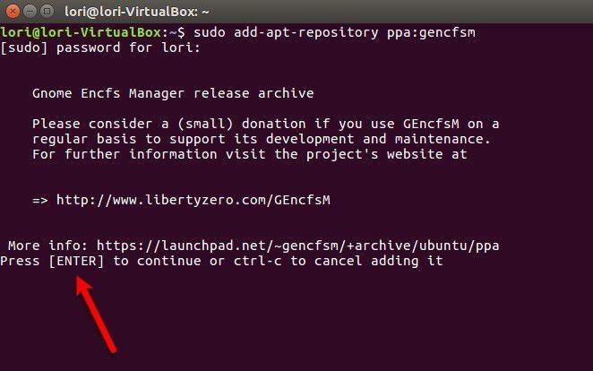linux encrypt folder