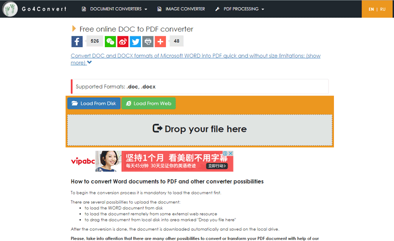 convertir doc a pdf en línea