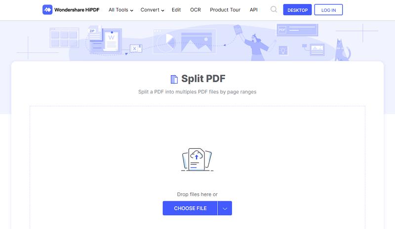 pdf-Seiten online trennen