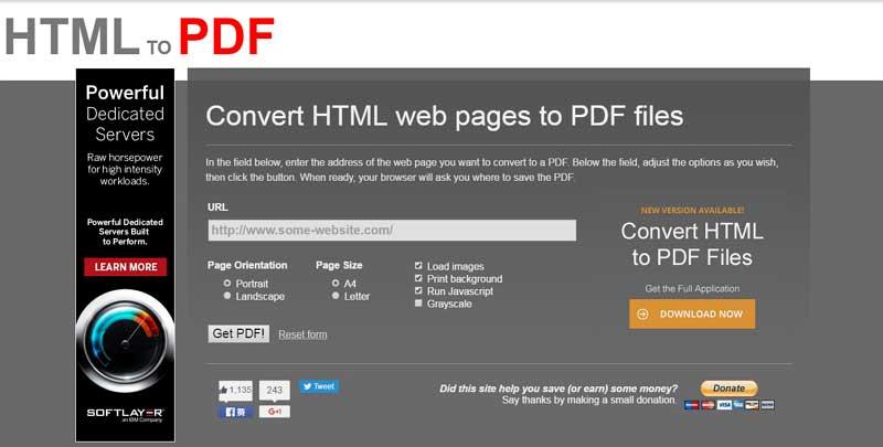 html to pdf converter online