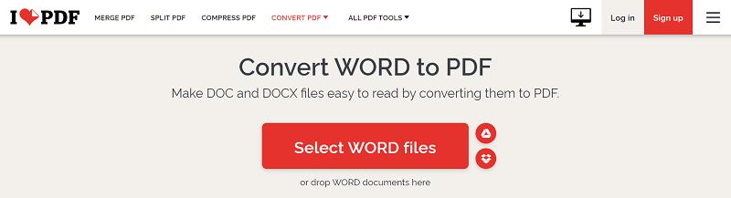 Doc to PDF ilovepdf