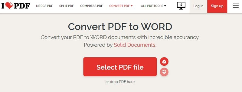 i love pdf in word