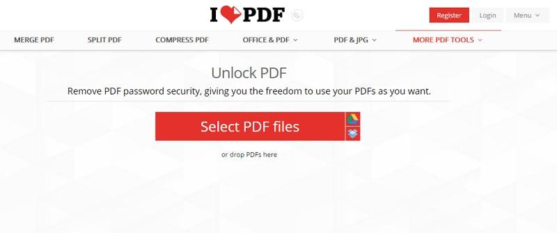 iLovePDF –Unlock