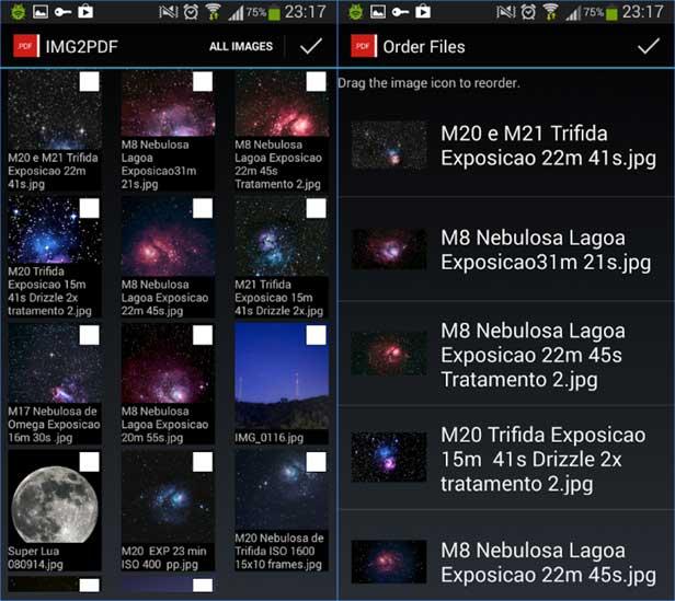 App, die Bilder in PDF umwandelt