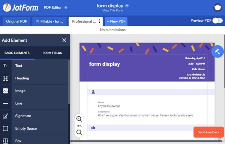 pdf form creator