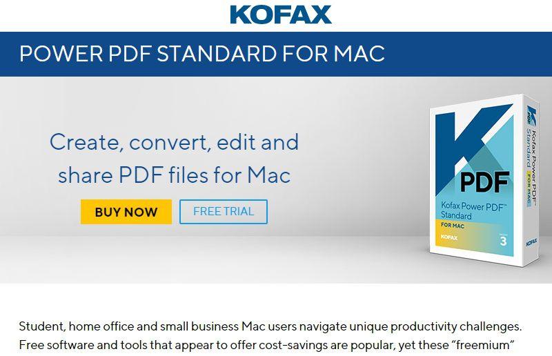 Kofax als Soda PDF Mac Alternative