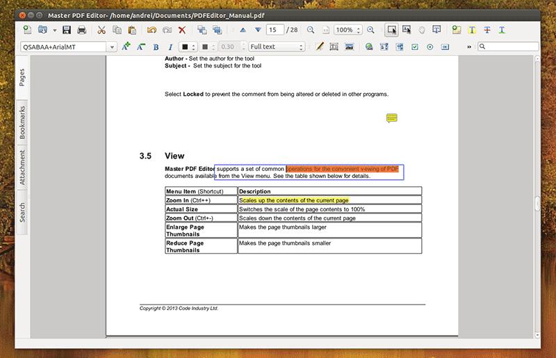 ubuntu edit pdf