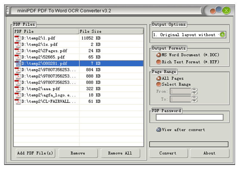 pdf à xml