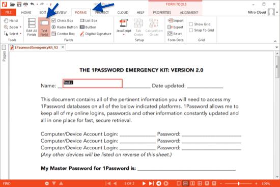 Formular in pdf Nitro Pro erstellen