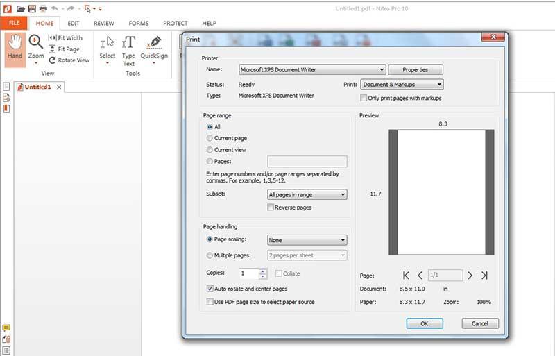 print to pdf nitro pro