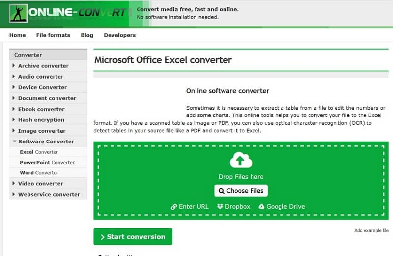 online convert word to excel