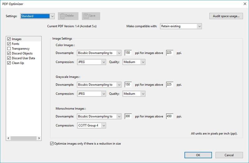 PDF Größenänderung mit Acrobat Pro DC
