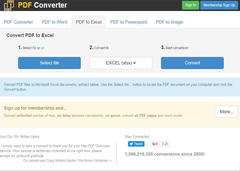kostenlos online PDF in Excel umwandeln
