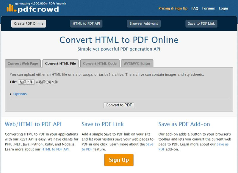 online html zu pdf konvertieren