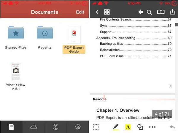 Preencher pdfs no iphone com PDF Expert 5