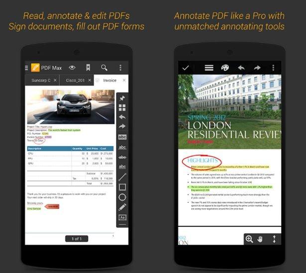 app für das schreiben in pdf