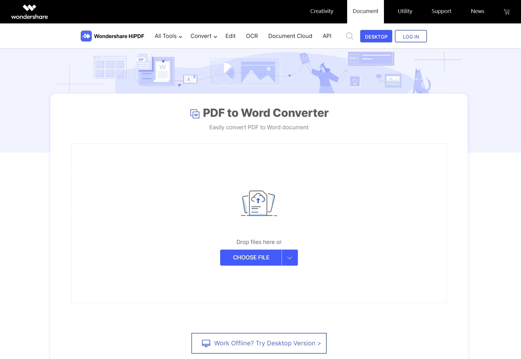 esportare pdf in word online