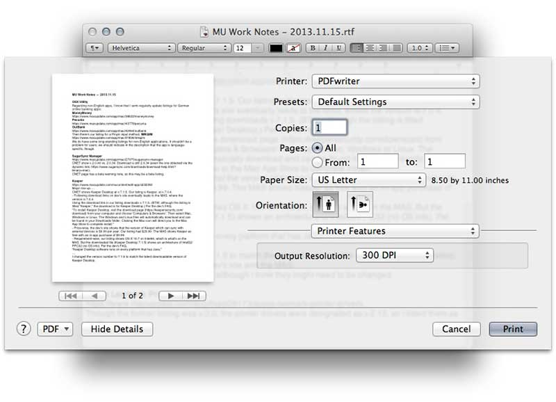 cute pdf writer for mac