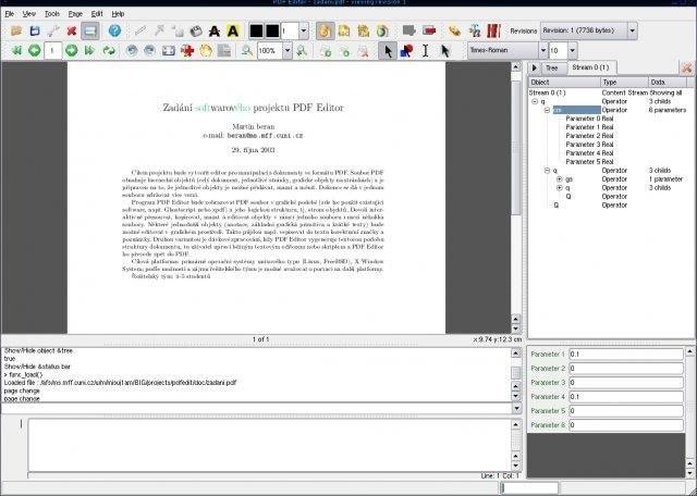 PDFedit free open source pdf editor
