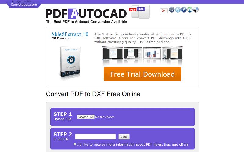 pdf to dxf online