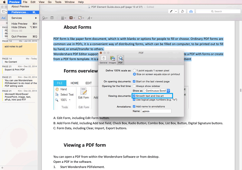 corregir archivo pdf en preview en mac