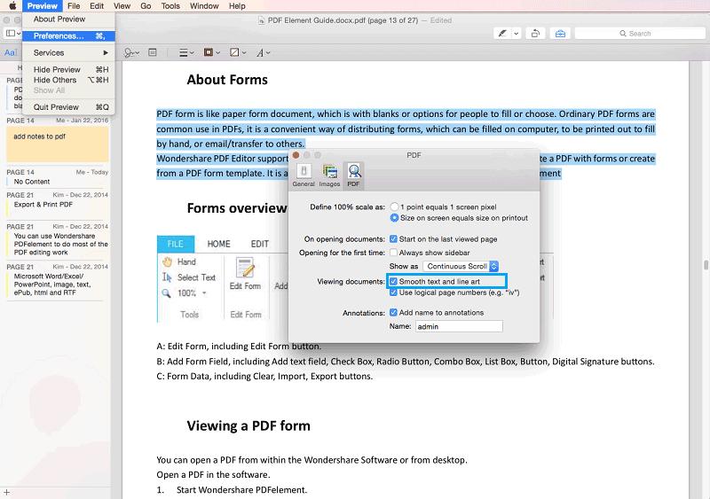Unscharfe PDF-Texte auf Mac Mojave beheben