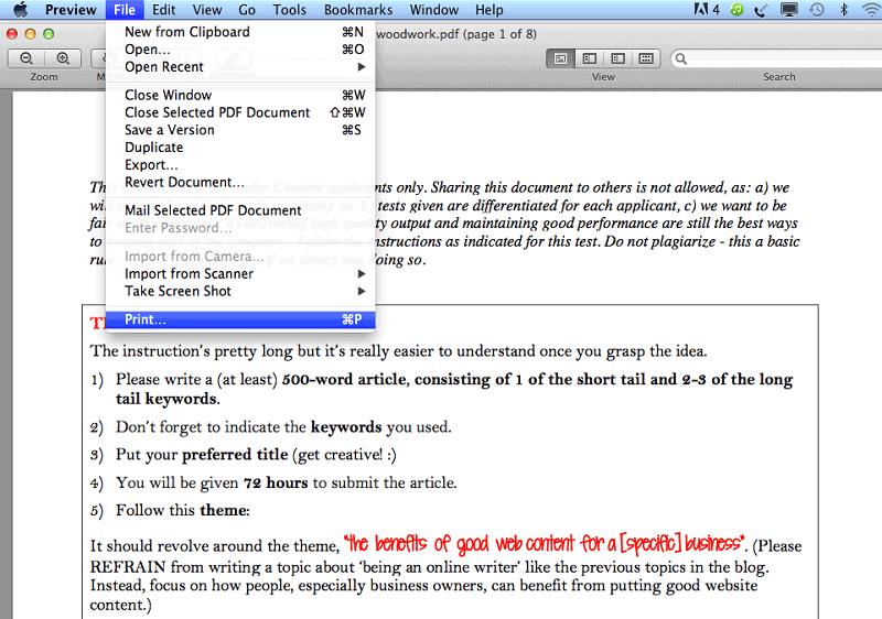 wie sie pdfs auf dem mac verflachen