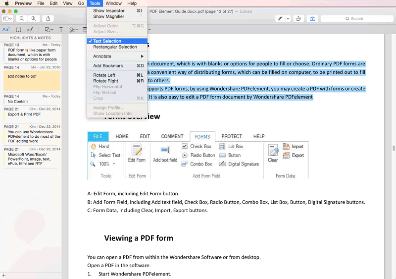 Editar Texto con Preview en Mac El Capitan