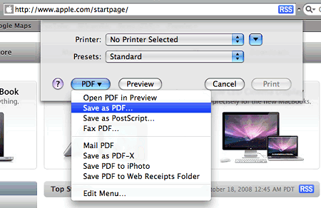 safari print to pdf