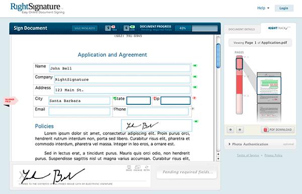 online signature pdf