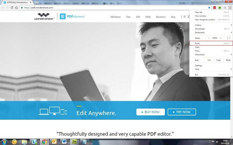 guardar página web como pdf en chrome