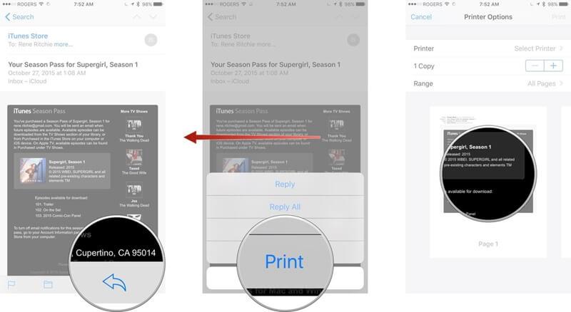 salva email in pdf su iphone