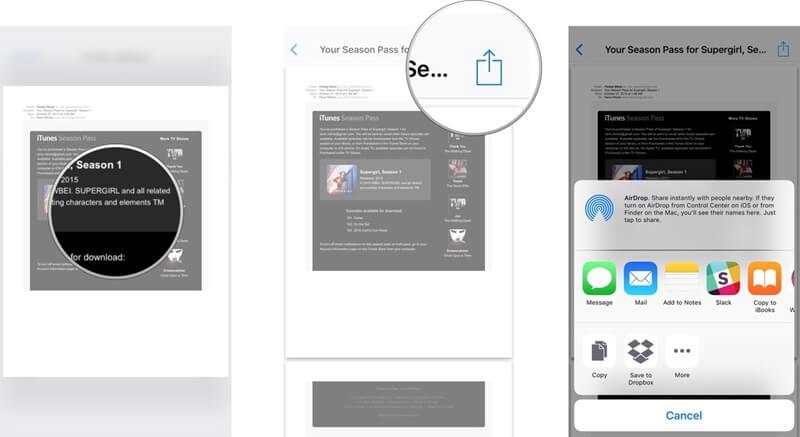 da email a pdf su iphone