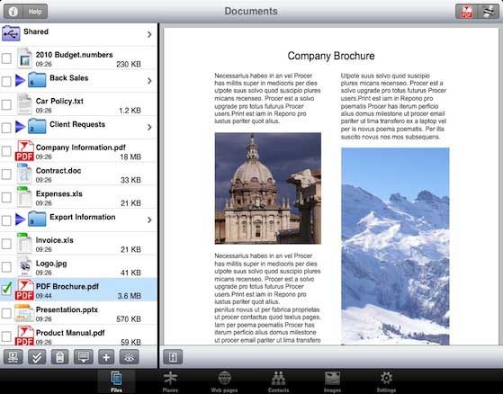 foto zu pdf app