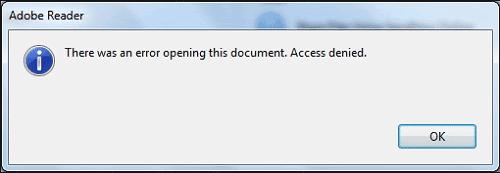 adobe reader not opening