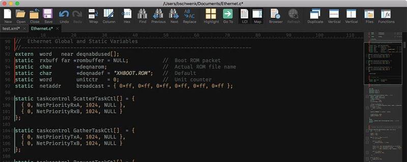 plain text editor macos 10.15