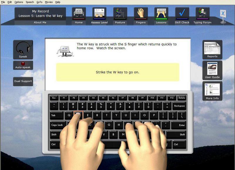 free online typing tutor