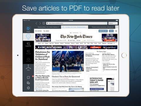 Converti Pagine Web in PDF su iPad