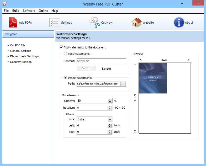 weeny free pdf cutter