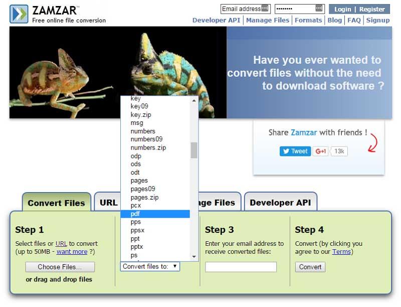 bmp zu pdf Konverter online