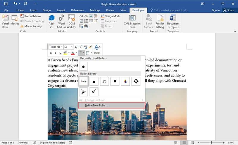cómo crear un checkbox casilla de verificación en word