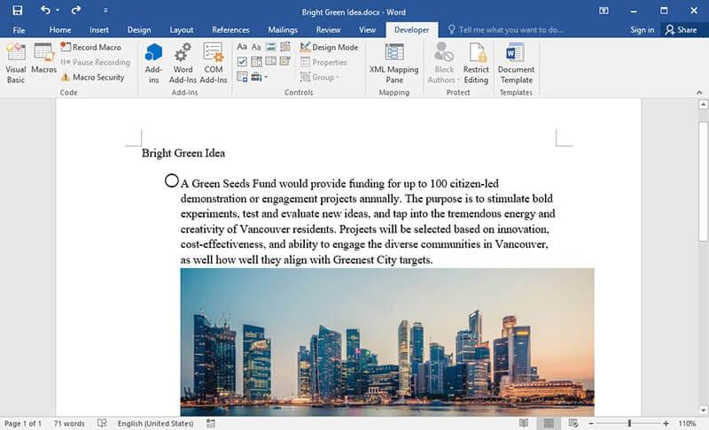 Kontrollkästchen in Word 2010 einfügen