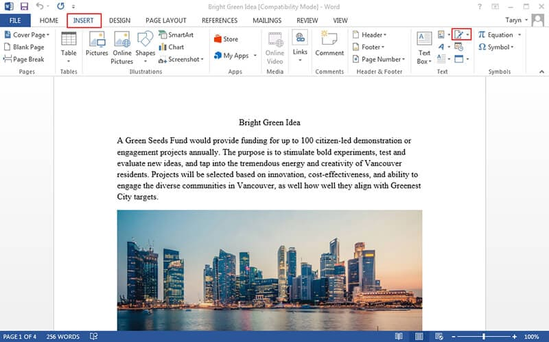 adicionar assinatura digital ao word