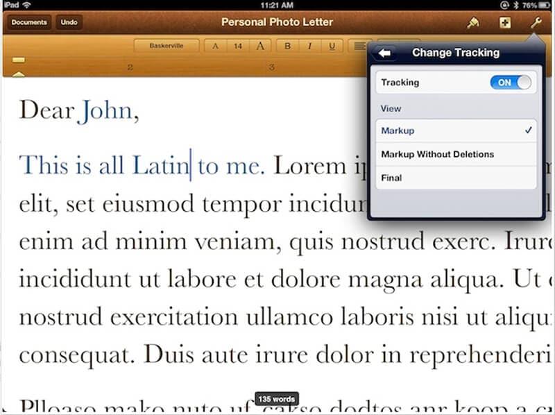 app escrita palavras