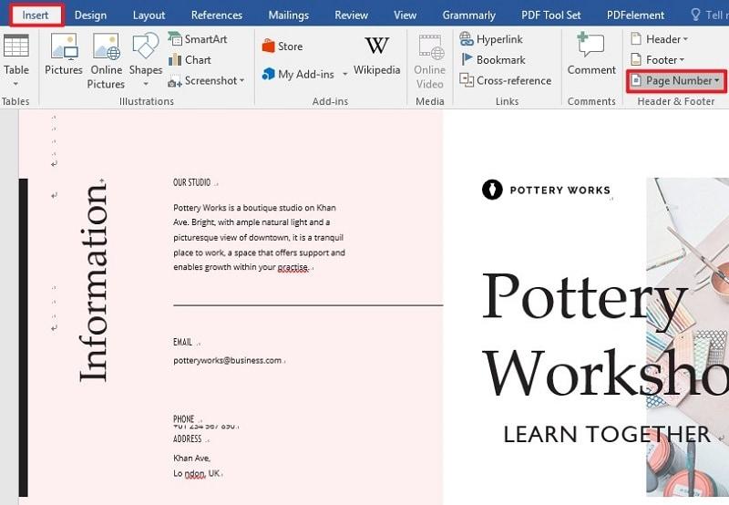remover números de página en word