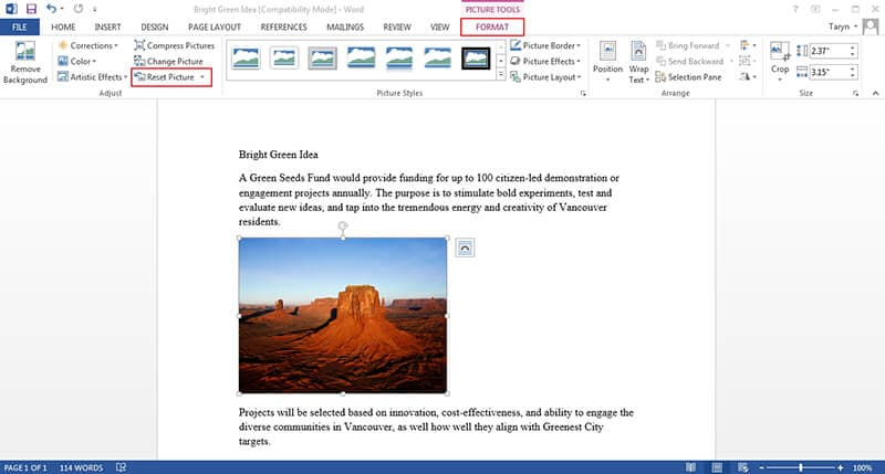 Wie man ein Bild in Microsoft Word bearbeitet
