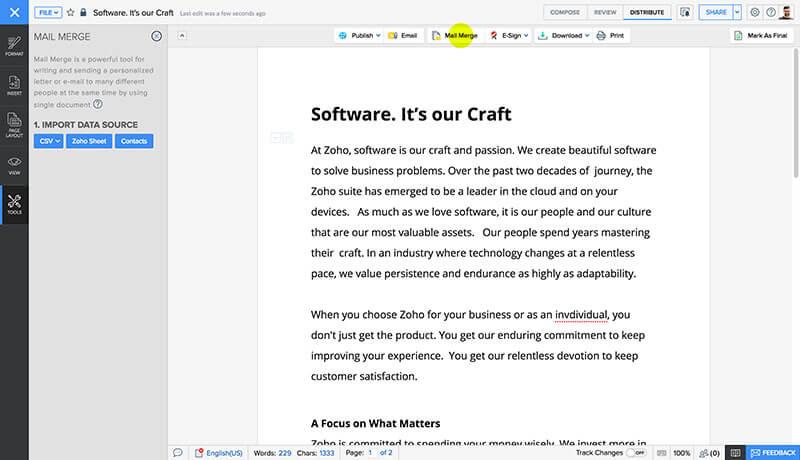 editor online gratuito di file word